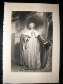 After Thomas Lawrence 1836 Folio Mezzotint Portrait. Archbishop of York